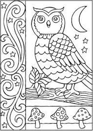free owl nature mandala coloring page inkleur pinterest
