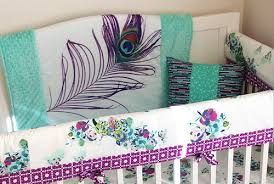 Purple And Aqua Crib Bedding Purple And Brown Polka Dots Baby Bedding