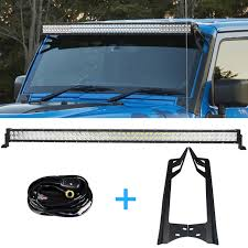 52 inch led light bar cover 300w 52 inch offroad led light bar drl mounting bracket wiring