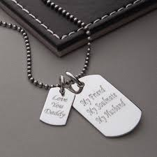 Personalized Dog Tag Necklaces Men U0027s Sterling Silver Double Dog Tag Necklace By Hurleyburley Man