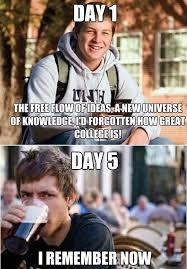 College Senior Meme - 8 college mentalities freshman to lazy college senior memes