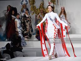 miss canada kathryn kohut displays her national costume during the