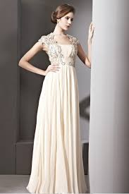 couture cream beaded sleeves chiffon prom dress 8810827