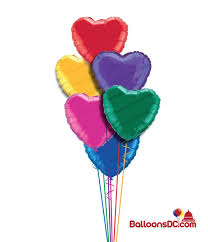 heart balloon bouquet a heart balloon bouquet 6 balloons balloonsdc