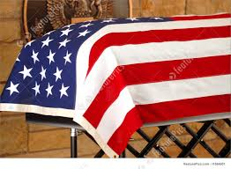 The Amarican Flag Coffin Draped With The American Flag Stock Photo I1564901 At