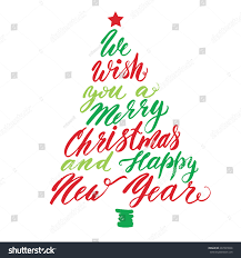 we wish you merry happy stock vector 497899846