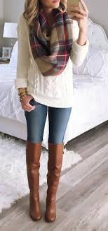 what to wear with light brown boots how to wear knee high boots with jeans her style code