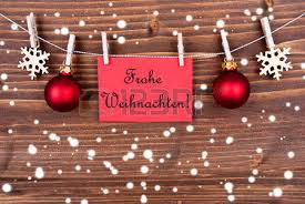 the german words frohe weihnachten which means merry