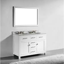 Inch White Finish Solid Wood Double Sink Bathroom Vanity With - White 48 inch bath vanity