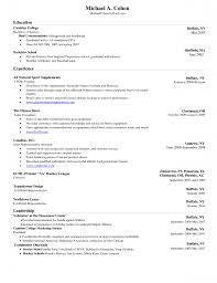 Sample College Resume by Resume Resume Sample With Picture Format Sample College Resume