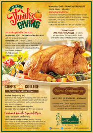 typical thanksgiving menu toscano restaurant events
