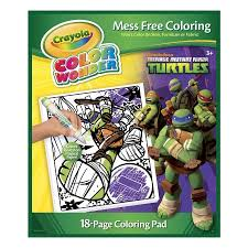 crayola color teenage mutant ninja turtles coloring book