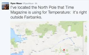 Alaska Temperature Map by Time Com Writer Cites Temperature At North Pole Alaska As From