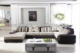 8181 modern sectional l shaped sofa set leather chaise lounge sofa