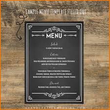 wedding menu templates free chalkboard sample diy menu template