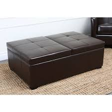 Leather Storage Ottoman Abbyson Frankfurt Leather Storage Ottoman Free Shipping Today