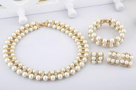 2015 fashion jewelry indian pearl set designs faux pearl necklace