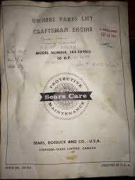 tecumseh h70 hh70 engine parts manual 1967 what u0027s it worth
