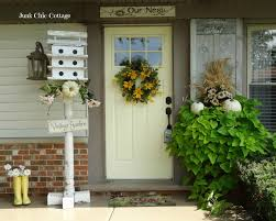 fall front porch and fabulous urn planter hollow cottage arafen