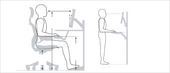 Height Of Office Desk Proper Computer Desk Height Office Chair Raise Height Best