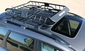Landscape Trailer Basket by Rhino Rack Roof Mounted Steel Cargo Basket 47
