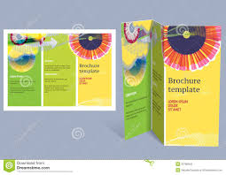 creative brochure templates free brochure booklet z fold layout editable design t stock vector