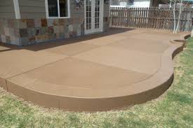 Stain Old Concrete Patio by Sandstone Colored Concrete Patio Stamped Concrete Pinterest