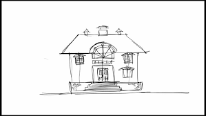 hand drawing architecture sketch of the house stock footage video