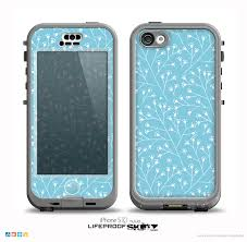 light blue iphone 5c case the light blue blossum twigs skin for the iphone 5c nüüd lifeproof