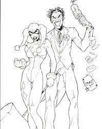 gorgeous inspiration joker and harley quinn coloring pages batman