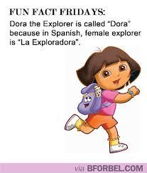 Dora The Explorer Meme - fun fact fridays why dora the explorer is named dora b for bel