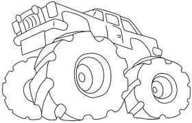 print u0026 download monster truck coloring pages