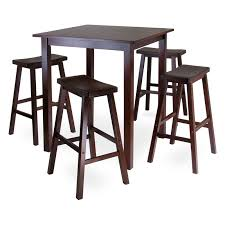 kitchen bar stool and table set winsome parkland 5 piece square pub high table set hayneedle