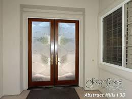 Frosted Glass Exterior Doors Doors Marvellous Frosted Glass Exterior Door Frosting Intended For