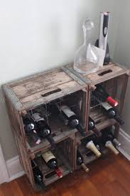wine rack made from old milk crates garage ideas pinterest
