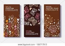 vector set chocolate bar package vector u0026 photo bigstock