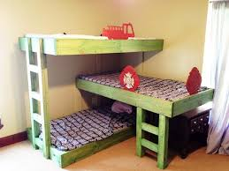 three bunk beds gorgeous triple bunk bed plans triple bunk beds with plans triple