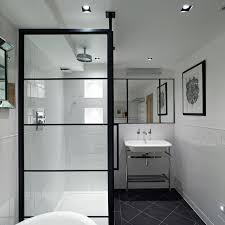 black frame showers u2013 sophisticated with modern industrial flair