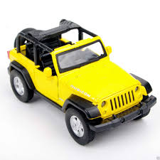 bugatti jeep yellow jeep wrangler suv 1 32 diecast plastic car model kit kids