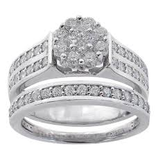 women s engagement rings avital co jewelry white gold 1 00 ct diamond cluster engagement
