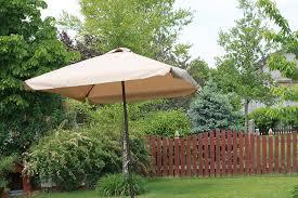 oversized patio umbrella amazon com rectangle outdoor patio umbrella java rectangular