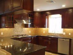 Dark Cherry Kitchen Cabinets Light Colored Oak Cabinets With Granite Countertop Here Are My