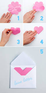 How To Make A Card Envelope - geometric heart love letters popup card letter templates