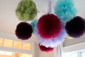 tulle pom poms house of tomato learning room phase 2 tulle pom poms