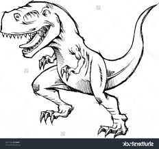 simple t rex drawing t rex coloring pages getcoloringpages