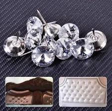 Tack Upholstery 10x 20mm Sparkly Crystal Tack Upholstery Sofa Headboard Buttons