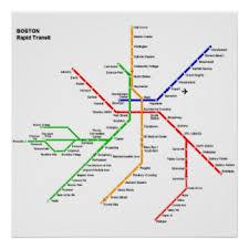 map of boston subway subway map posters zazzle