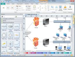 basic network diagram free examples software and templates download