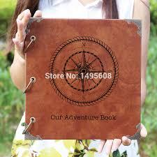 personalized wedding photo album compass leather photo album our adventure book personalized