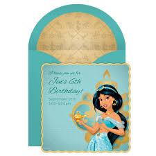 Online Birthday Invitation Card Jasmine Online Invitation Disney Family